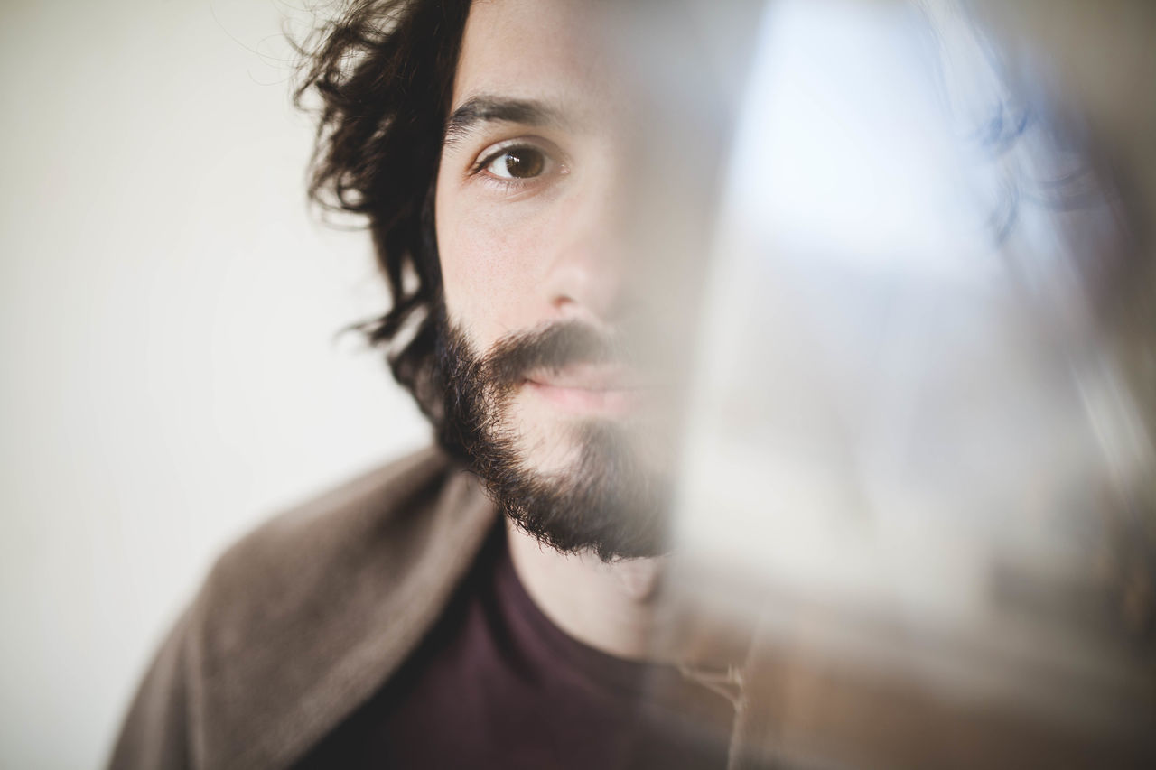 In love. Be. Ready. Brown Eyes Light Reflection Adult beard close-up day friend friendly front view glass handsome headshot indoors Looking At Camera love ♥ men one man only one person only men people portrait real people young adult