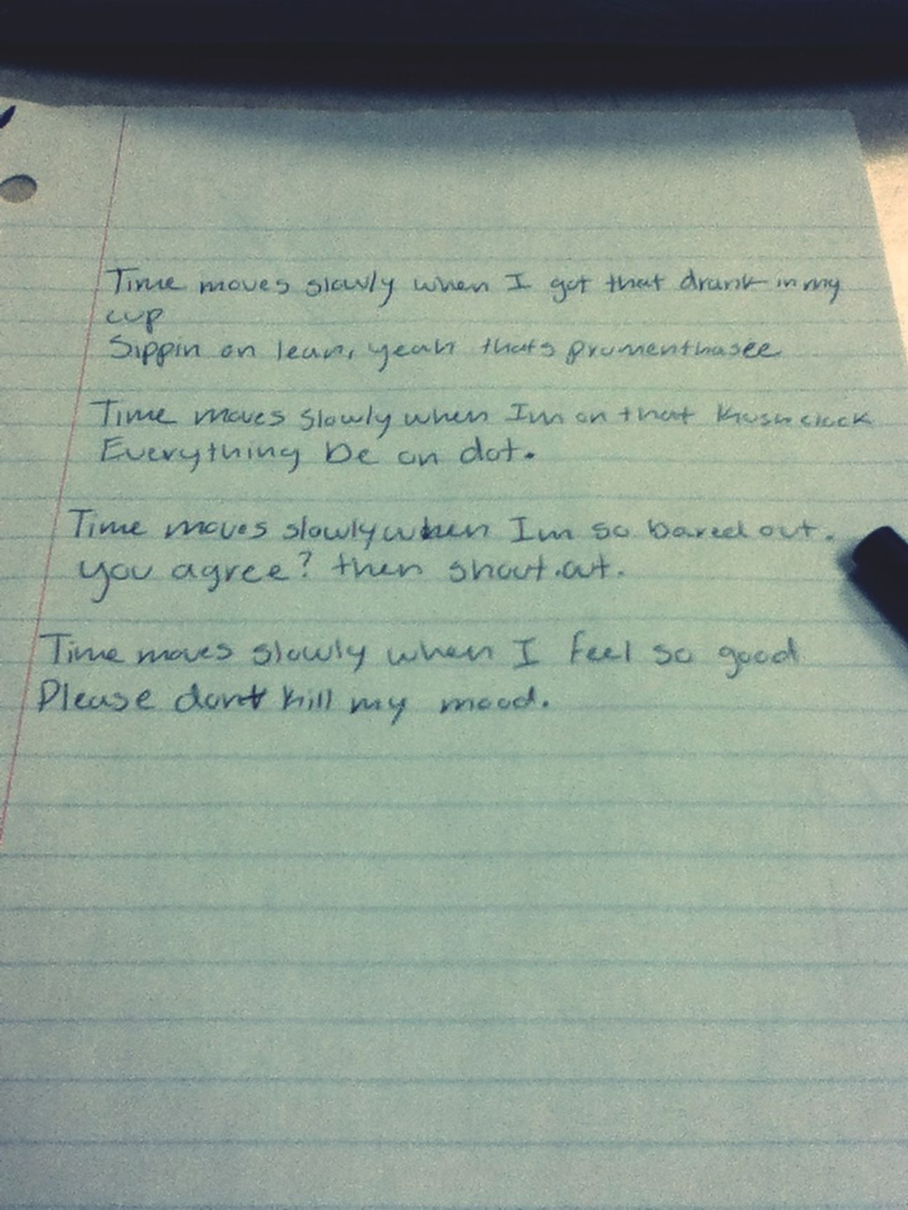 Tha Poem I Wrote In Class LOL
