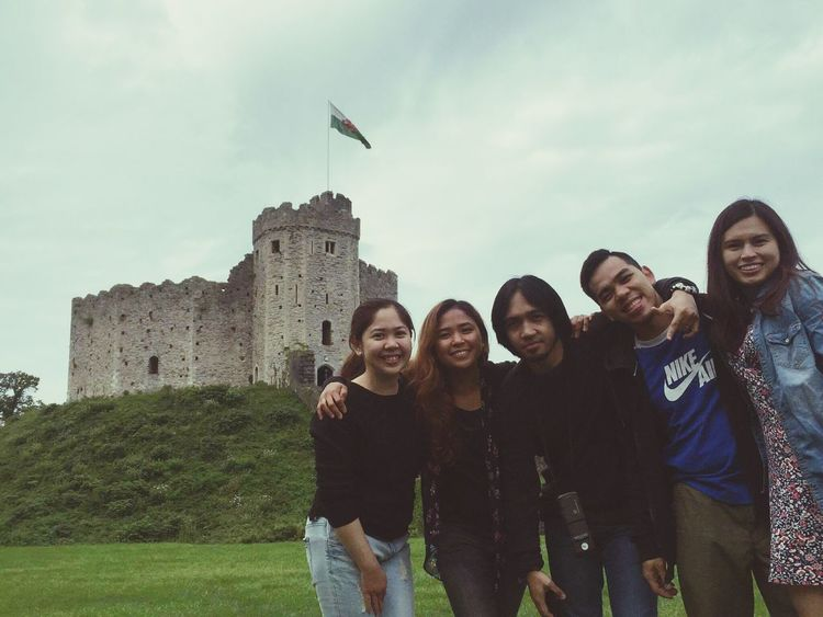 Friends. 💙😊 Young Adult Leisure Activity History Togetherness Travel Destinations Person Taking Photos Travel Tourism Cardiff Castle Cardiff Wales UK Wales