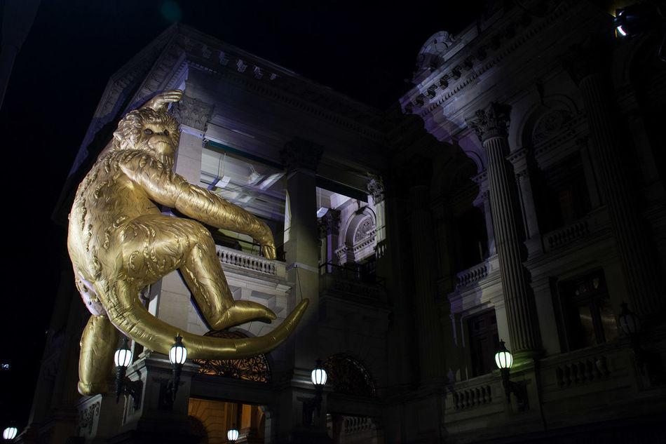 Building Exterior Built Structure Creativity Festival Inflatable Monkey King Kong Monkey Sculpture Statue