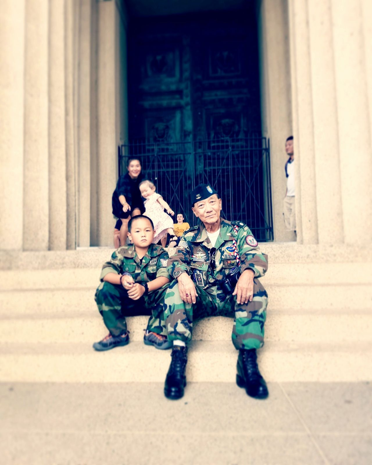 Child Parent Sitting Females Built Structure Outdoors Building Exterior Childhood People City Son Day Architecture Adult Nashville NASHVILLE,TENNESSEE Parthenon Military Uniform Military Army Army Life Army Strong Pilot Veterans