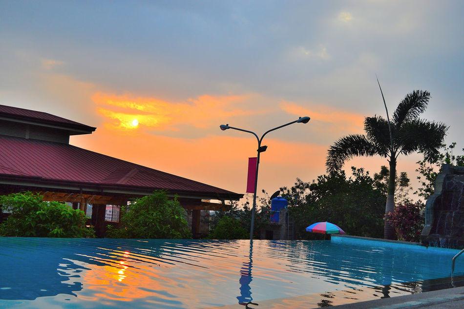 Kopiko Sunset_collection Sunsetporn Sunset Resorts EyeEm Best Shots Eyeem Philippines Pool Reflections In The Water Reflection Reflections And Shadows The Essence Of Summer