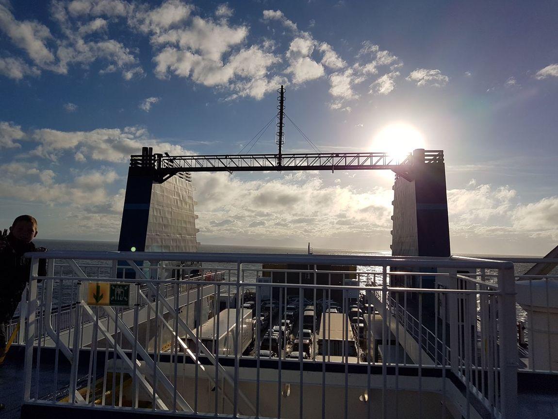 Newzealand Deck Sunlight New Zealand Interislander Ferry NZ Ship Ocean Sea Outdoors Nautical Vessel Sky NoEditNoFilter NZ South Island Cloud - Sky Asis Built Structure Cookstrait