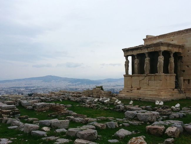Athens Acropolis Caryatid Caryatids Greece Archaeology Statues View Travel Eye4photography