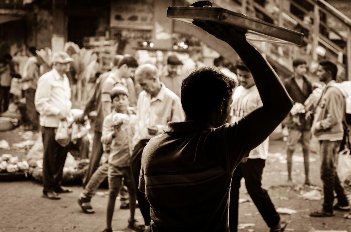 The tea seller Against The Light Balancing Act Chai Dadar Hawker Men Occupation Real People Street Tea Seller