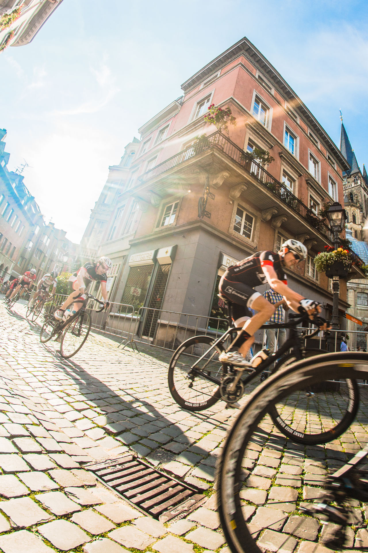 Aachen bike rally captured with a fisheye Lense. ✌🏻️ Creative Light And Shadow
