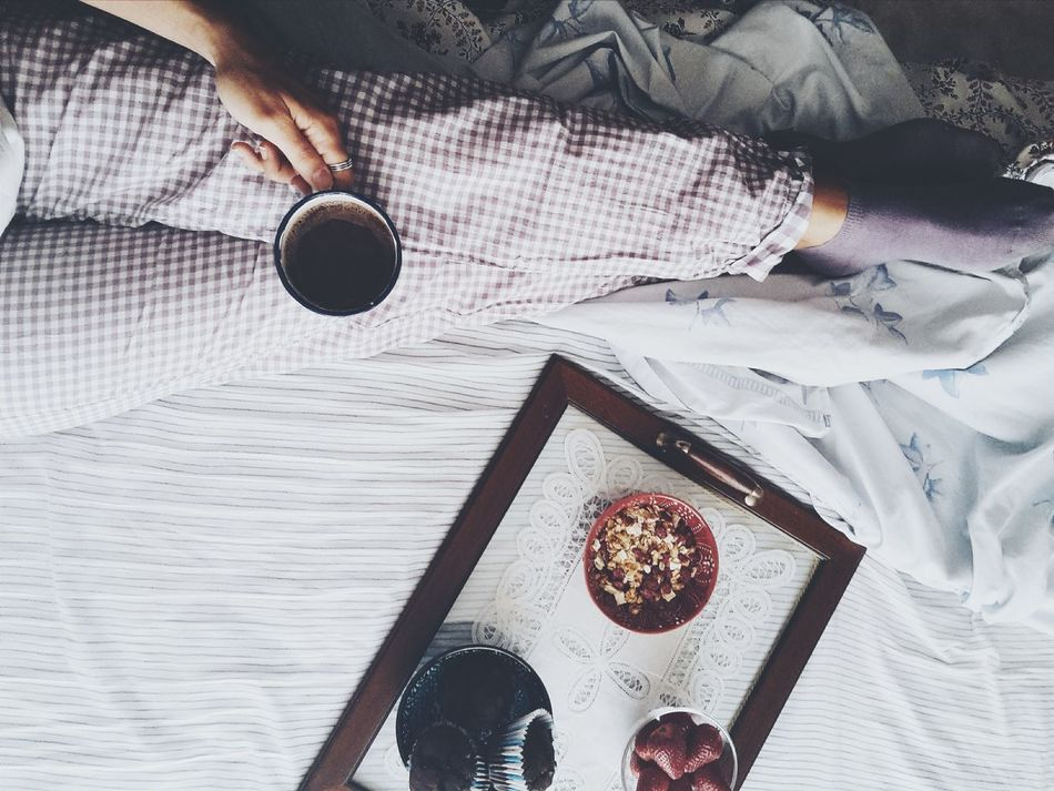 Beautiful stock photos of schokolade, Bed, Bowl, Breakfast, Coffee - Drink