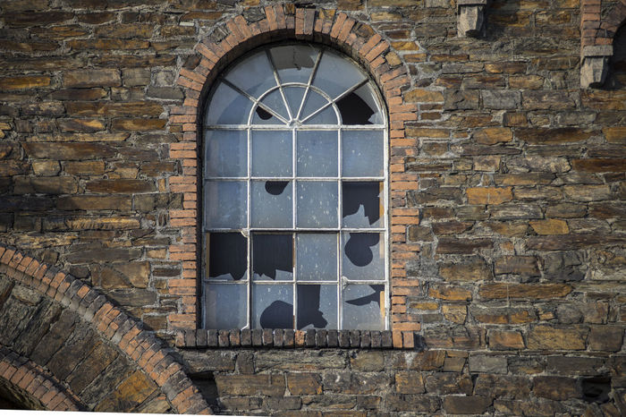 Hochofengebäude Ironwork  Ironworks Wall Architecture Bendorf Bildfolge Building Building Exterior Built Structure Concordiahütte Day Destroyed Detail Facades House Industrialheritage Ironworks Area Krupp Mühlhofen No People Outdoors Photography Streetphotography Window