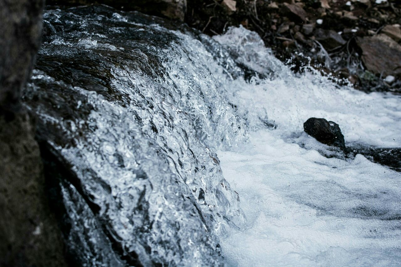 no people, rock - object, day, water, motion, nature, outdoors, beauty in nature, close-up