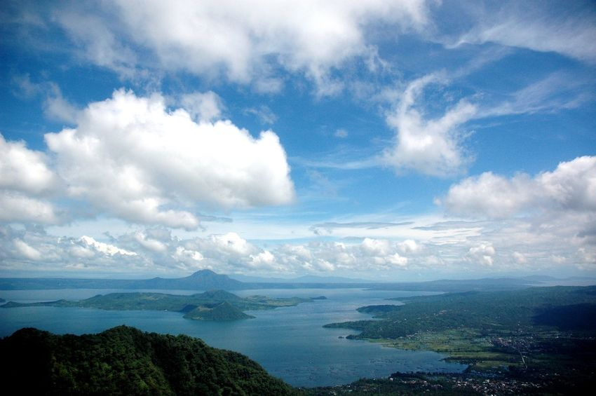 A view of the lake and volcano at Tagaytay. Lakes  Local Traveling Travel Travel Destinations Travel Photography Travelgram Travelphotography Volcano