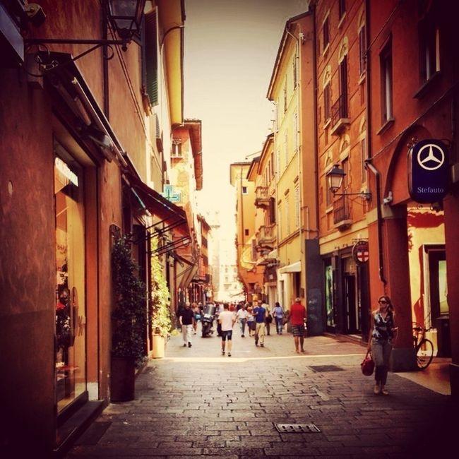 via D'Azeglio Hanging Out City Streetphotography Bologna