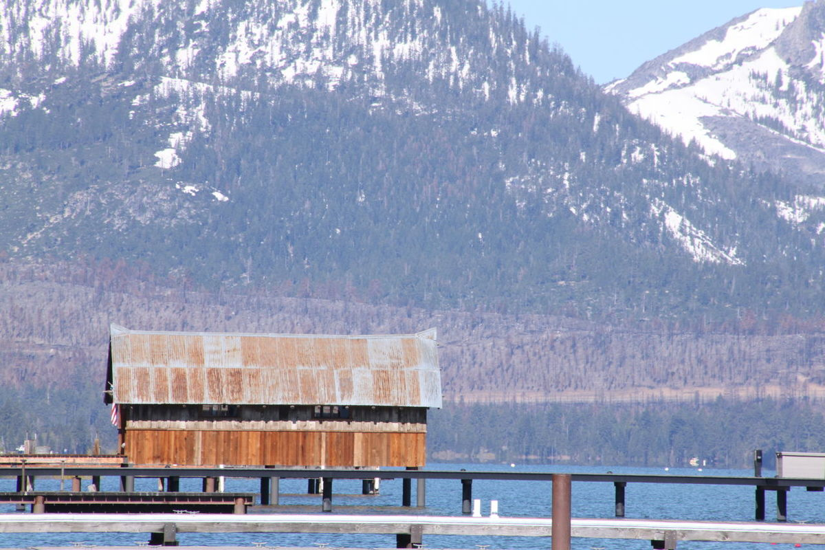 Architecture Beauty In Nature Built Structure Day Lake Tahoe, Ca Mountain Nature Outdoors Snow Water