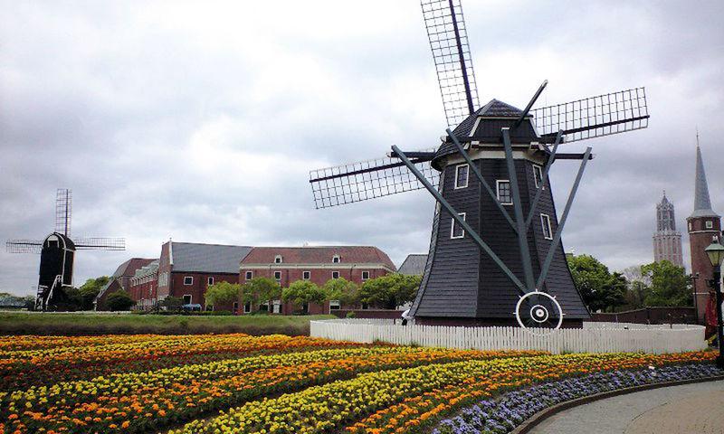 Cloud - Sky Flower Huis Ten Bosch Landscape Sky Spring Windmill