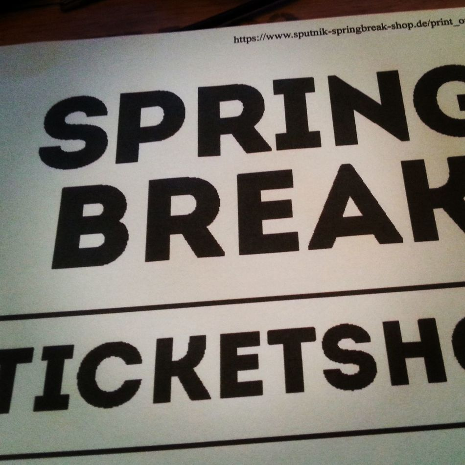 Sputnik Spring Break 2015  Save My Ticket Today It Will Be Great