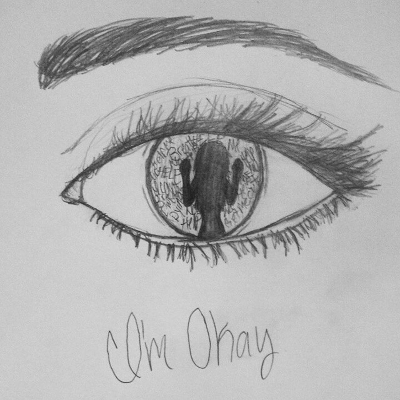 I drew this today and im proud of myself Drawing Imokay Imnotokay