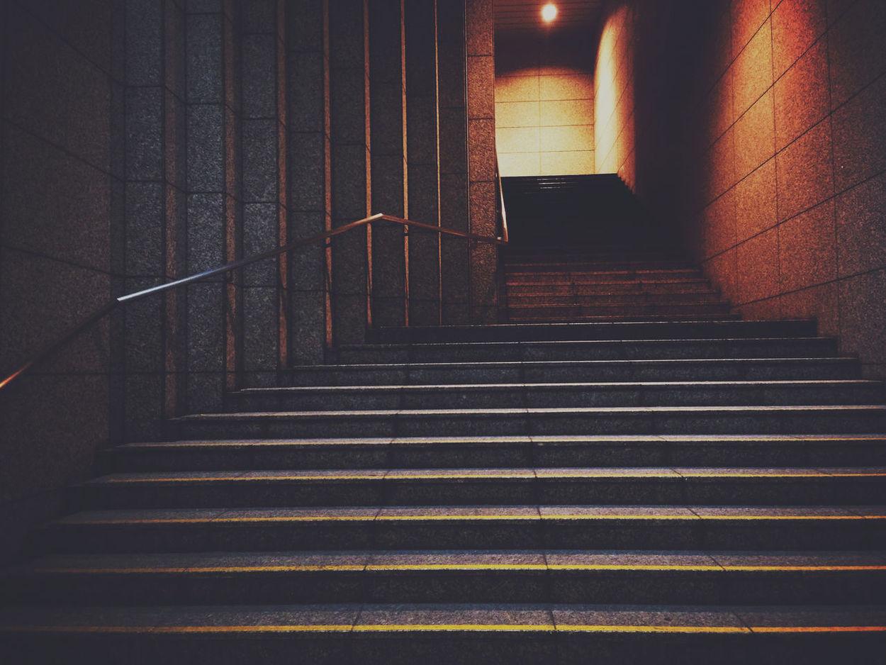 Stairs Stairways Walking Around Light And Shadow Lookingup