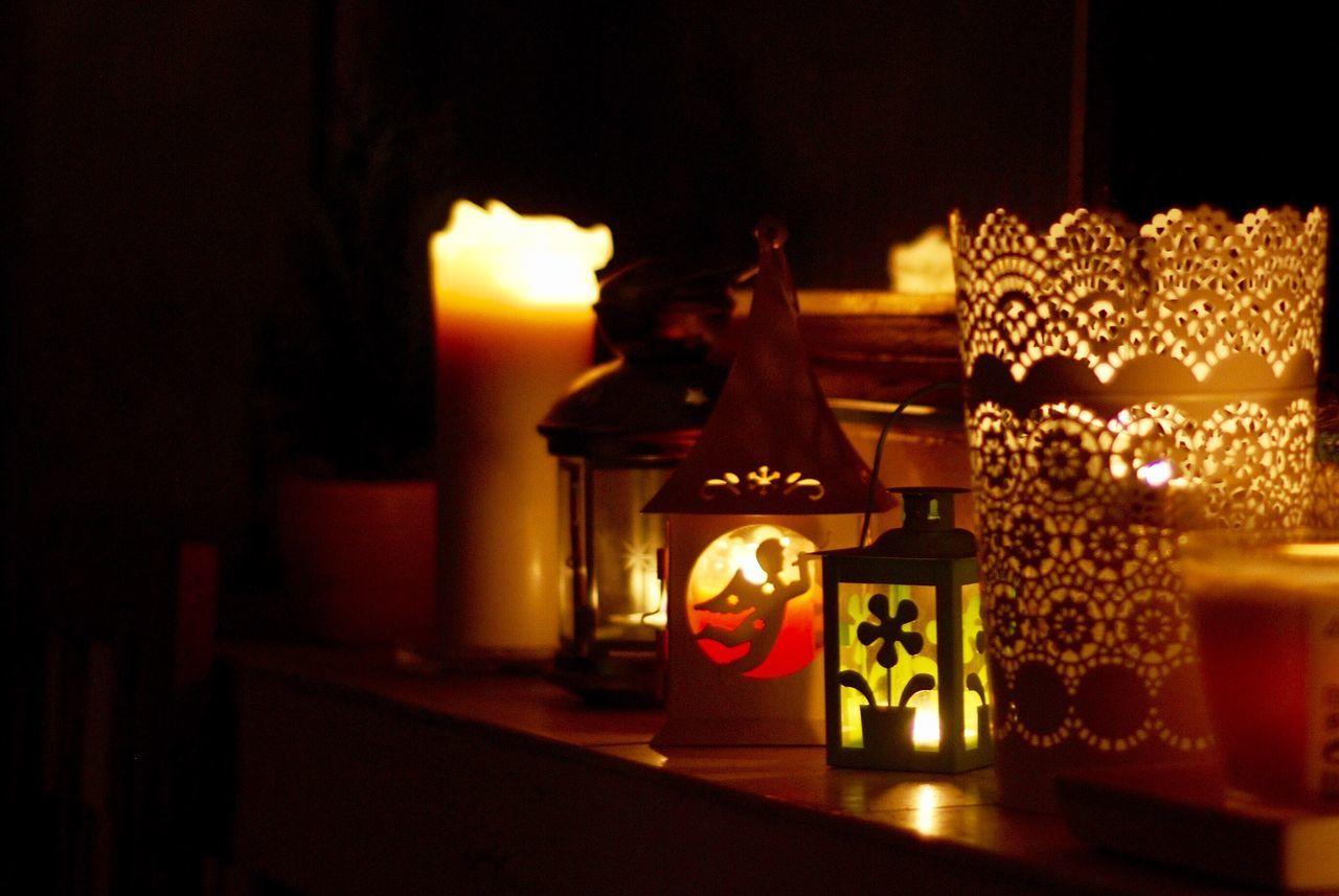 Illuminated Lighting Equipment Night Flame Candle Candle Light