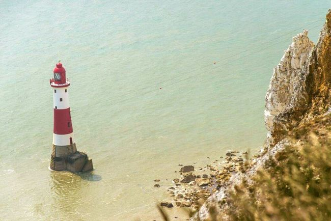 Lighthouse Lighthouseview Lighthouse_lovers Lighthousephotography Beachyhead Beachy Head England England🇬🇧 Hanging Out Cliffside Cliff Seaview Sea View Sea And Sky