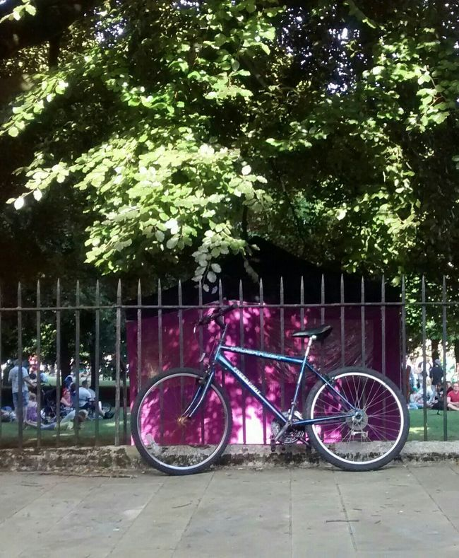 Light And Shadow cropped On Your Bike Natural Coloursplash Hat Fair Street Art