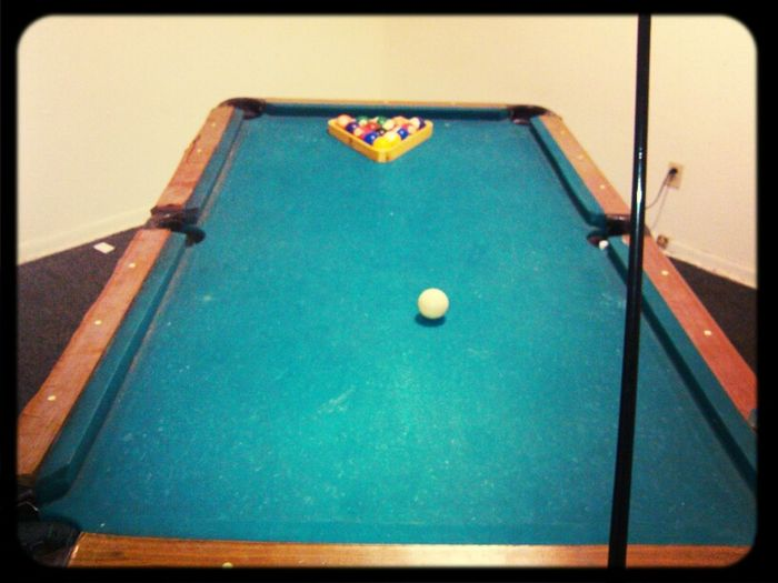 relaxing bout to play some pool >>>>