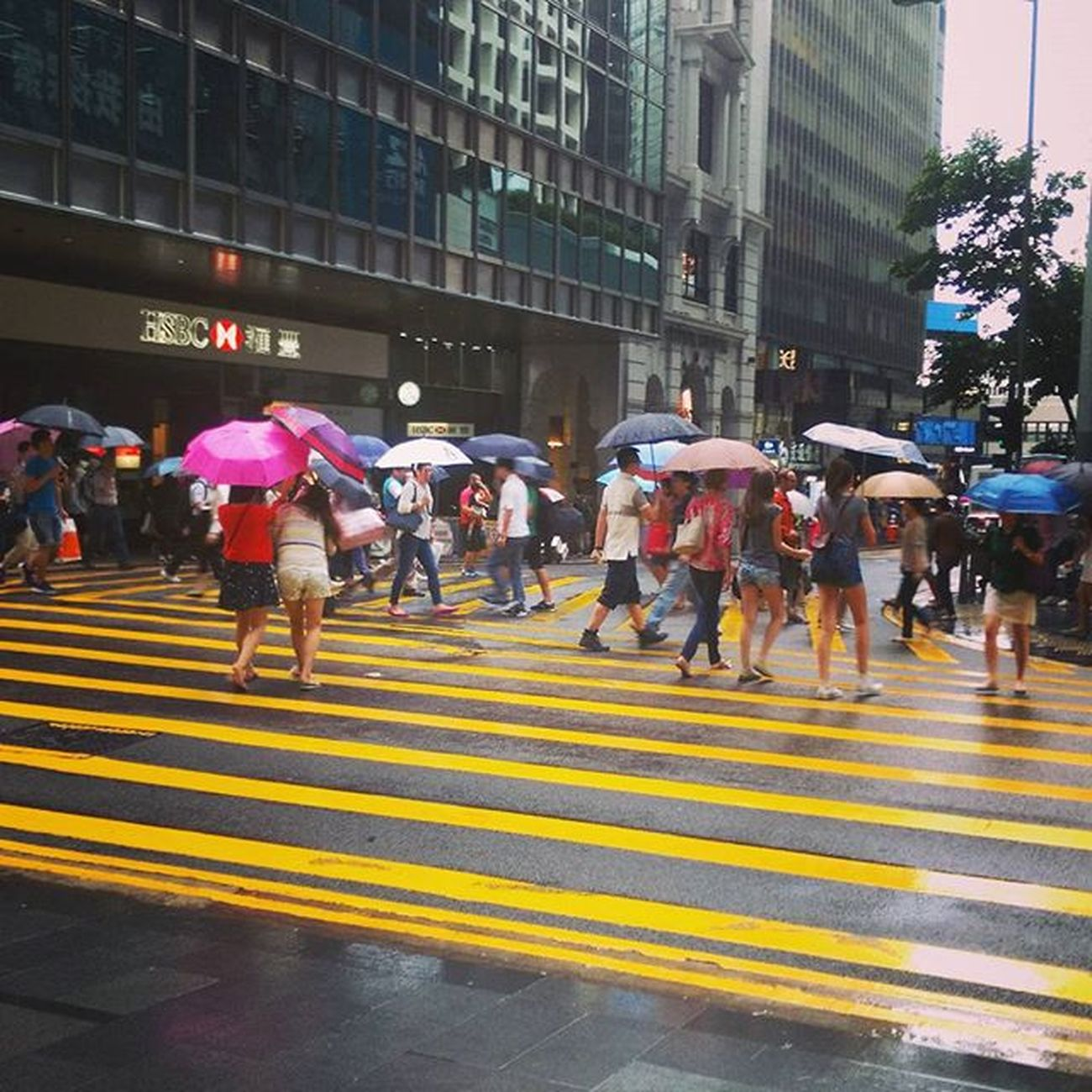 Another rainy day in HongKong Umbrellas Central Pedderstreet Rain Weather Rainraingoaway  Umbrellarevolution Sad