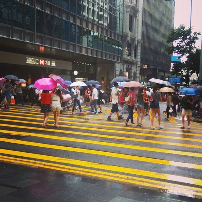 Another rainy day in HongKong Umbrellas Central Pedderstreet Rain Weather Rainraingoaway  Umbrellarevolution Sad