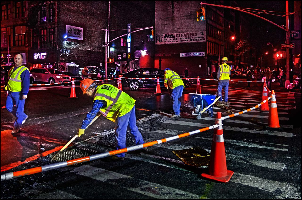 Hard work @ Night - 3/10/16 Blend W/ Brush 2 Images HDR+Orig.Composit Construction Site EyeEm Best Shots EyeEm Night Shots EyeEm Nightscape EyeEm StreetPhotography, NYC Real People