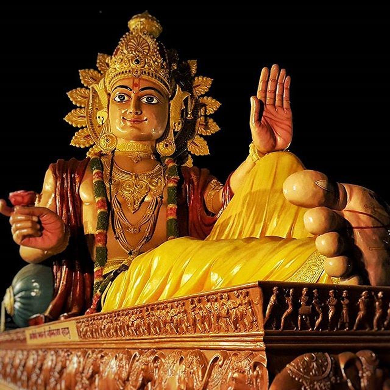 151ft wide statue of Lord Swaminarayan! Swaminarayantemple Swaminarayan Largerthanlife Huge God Statue Lordswaminarayan Gujarat Blessings Poicha Nilkanthdham