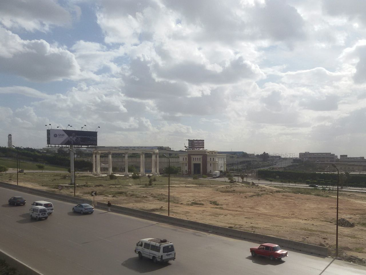 High Angle View Architecture Outdoors Cityscape Car Bridge - Man Made Structure Travel Destinations Cloud - Sky Building Exterior No People Day Way Up High Temple Historical Building Historical Place Egyptology Sky Landscape Alexandria Egypt