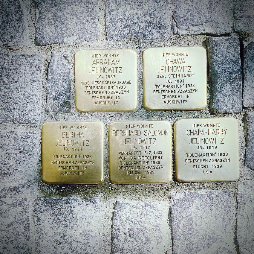 Stolpersteine Never Forget Stolpersteine Memorial Holocaust Remembrance Holocaust Braunschweig Brunswick