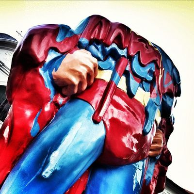 Singapore is so hot that even Superman melted. Photography Sgig Sg Instasg Igsg IPhoneography Iphoneonly Singapore Instagram Superman Art