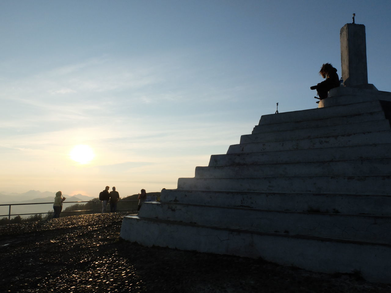 Watching the sunrise on Kelimutu Volcano, Indonesia. Architecture Day Ende INDONESIA Indonesia_photography Kelimutu Nature Outdoors RASTA Roadtrip Sculpture Sky Staircase Statue Steps Steps And Staircases Sunrise Top Travel Trekking Volcano