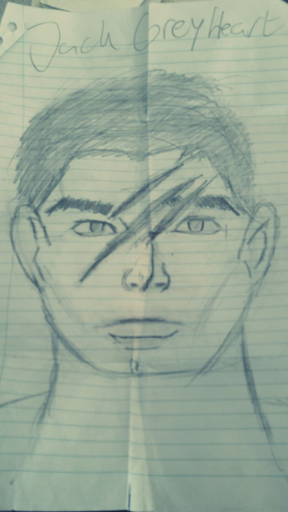 My own character: Jack GreyHeart Drawing - Art Product Pencil Drawing