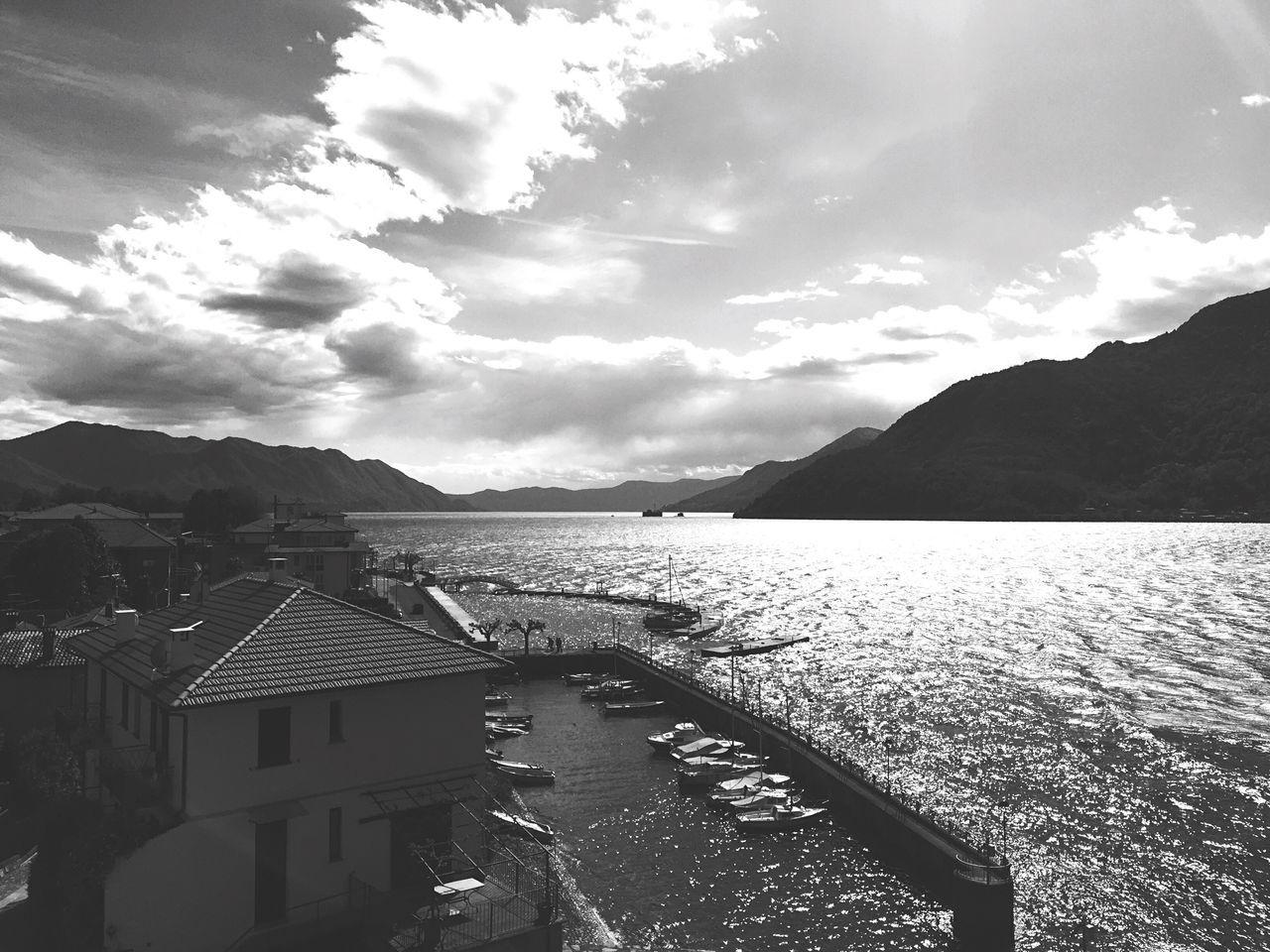 Maccagno Lake Lagomaggiore Blackandwhite Wind Sun Weekend Spring Harbour April