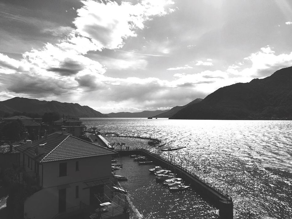 Maccagno Lake Lagomaggiore Blackandwhite Wind Sun Weekend Spring Harbour April