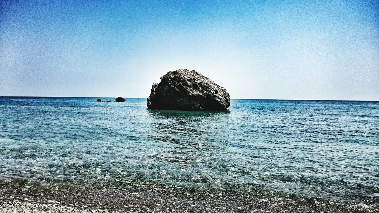 the rock of love...Aphrodites Rock, Cyprus. Aphrodites Rock Cyprus Tourism Beachphotography Pebble Beach Rock Seascape The Places I've Been Today Travel Photography Crystal Clear