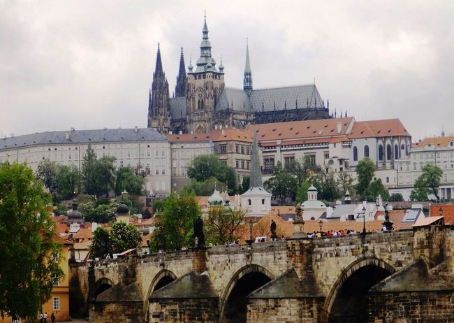 St. Vitus (Veitsdom), Old Town, Prague Arch Architecture Building Exterior Built Structure Capital Cities  Charles Bridge City City Life Cloud Cloud - Sky Cloudy Day Façade History No People Old Town Outdoors Prague Sky St. Vitus Cathedral Tourism Travel Destinations Tree Veitsdom