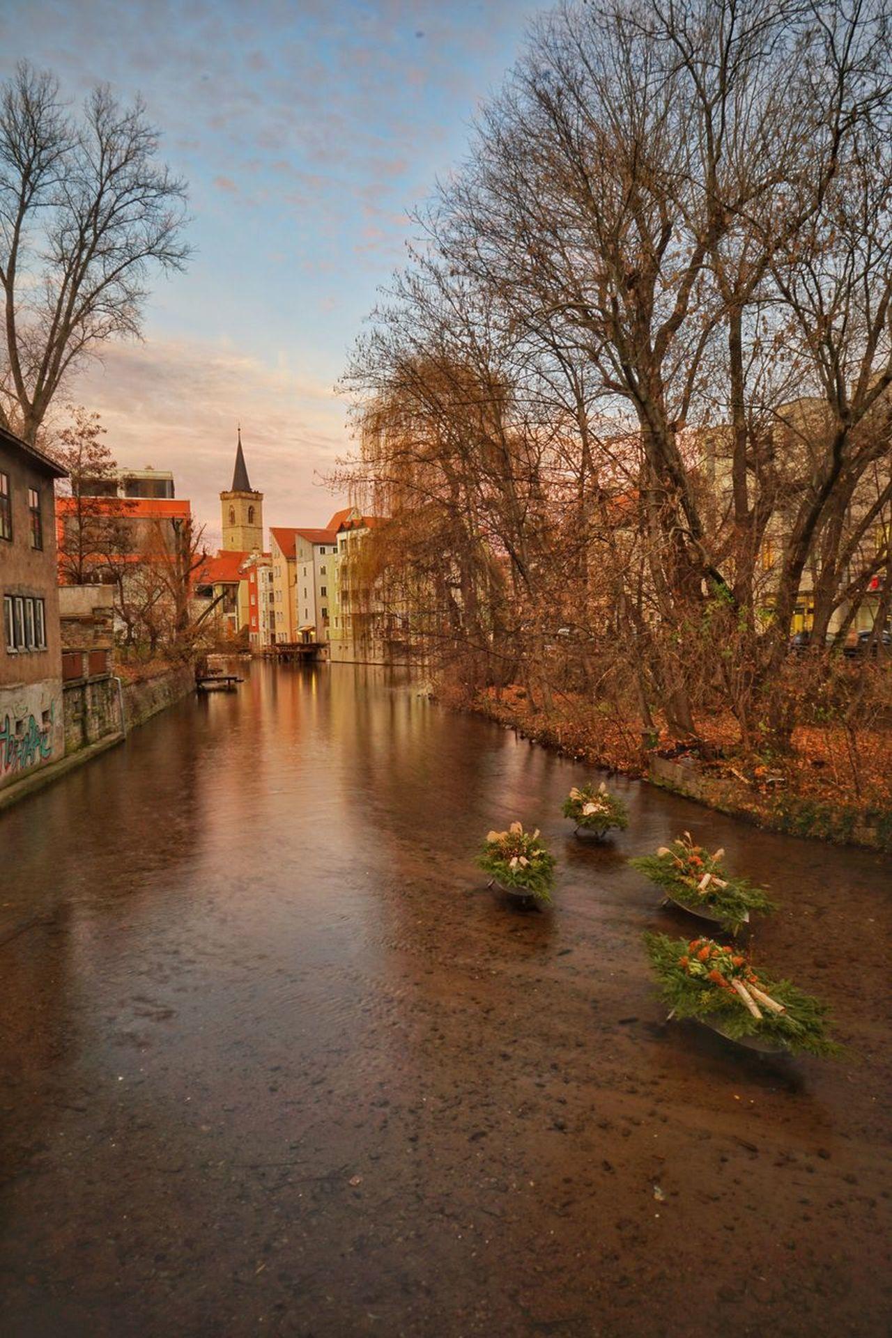 Erfurt Altstadt ,Blick von der Schlässeebrücke auf die Gera Heikobo Erfurt Schlösserbrücke Altstadt