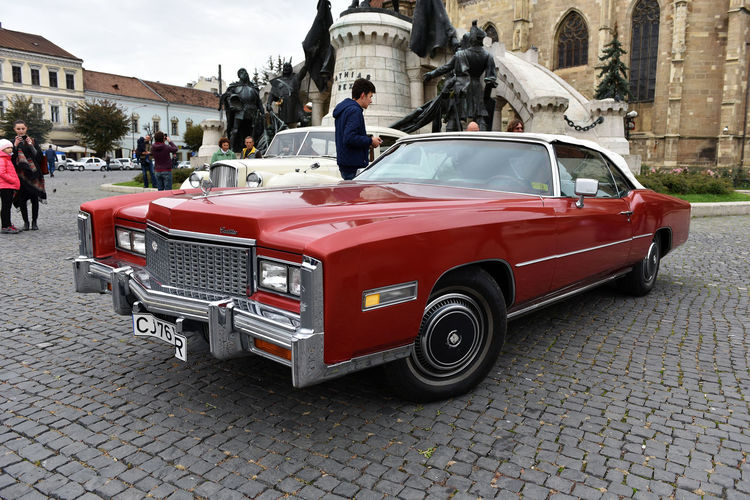 Cadillac Eldorado vintage car exhibited during the Retro Mobile Autumn Parade in the city of Cluj Napoca. Event organized by Retro Mobil Club Romania American Cars American Cars Vintage Automobile Caddy Cadillac Car Exhibition Retro Wheel American Car American Cars Of The Fifties Automobile,vintage,classic,outrageous Brand Cadillac Eldorado Car Exhibition Nostalgia Old Parade Red Red Car Refurbished Retro Car Retro Mobile Retro Styled Vintage