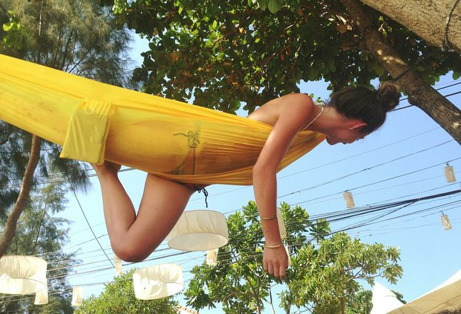Day Yellow Outdoors Fun Thailand Girl Hanging Around Hanging Out ✌ Hammock Travel Summertime High People And Places Fresh On Eyeem