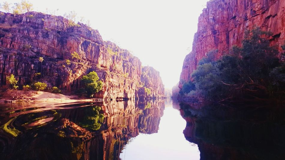 Tranquility Cliffside Northern Territory Desert Beauty Australia Reflections In The Water Water Reflections Waterscape Outdoors Tree Nature Beauty In Nature