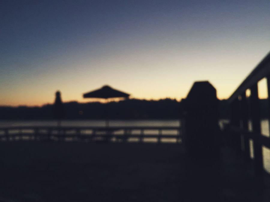 Drunken Sunrise Silhouette Sunrise Outdoors No People Nature Water Night Sky Pacific Northwest  Pacific Northwest  PNW Seattle Space Needle Seattle Olympic Peninsula Gig Harbor Beach Deck
