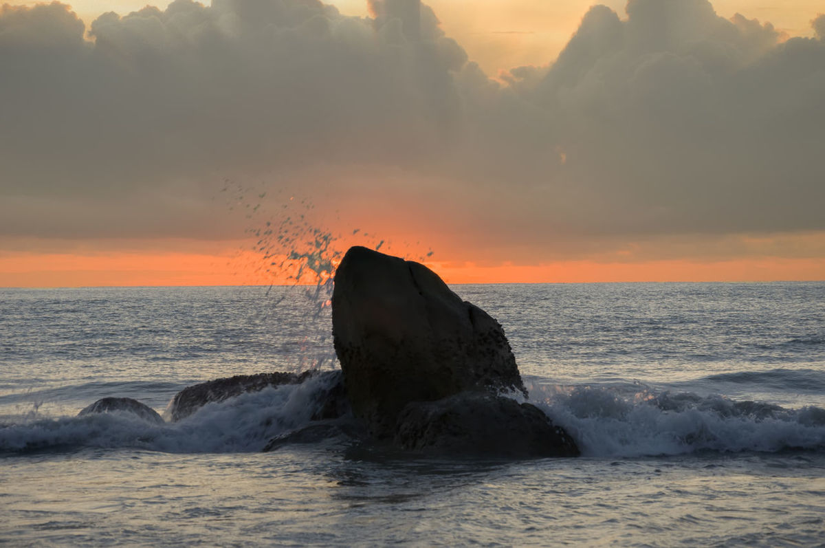 sunrise at the teluk chempedak Astrology Sign Awe Beauty In Nature Coastline Day Horizon Over Water Nature No People Outdoors Sea Sunset Water Seascapes Cloud - Sky Waves And Rocks Dramatic Sky Nacture_photography The Great Outdoors - 2017 EyeEm Awards