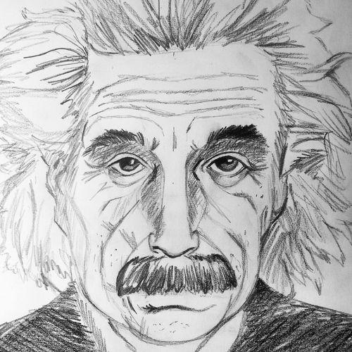Benim çizimimle ALBERT EİNSTEİN ✏ 🎨