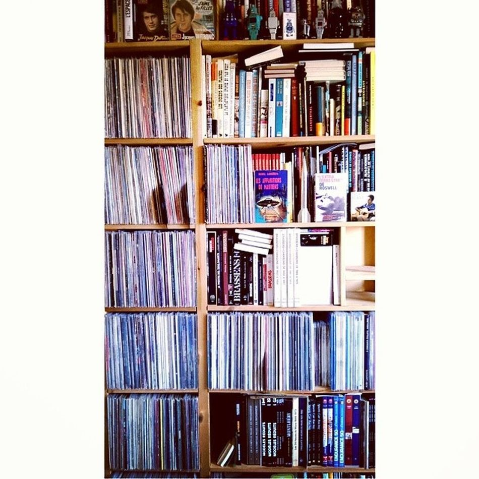 When your dad has a big, really big passion for music ! Dad Music Passion Vinyls toujoursplus