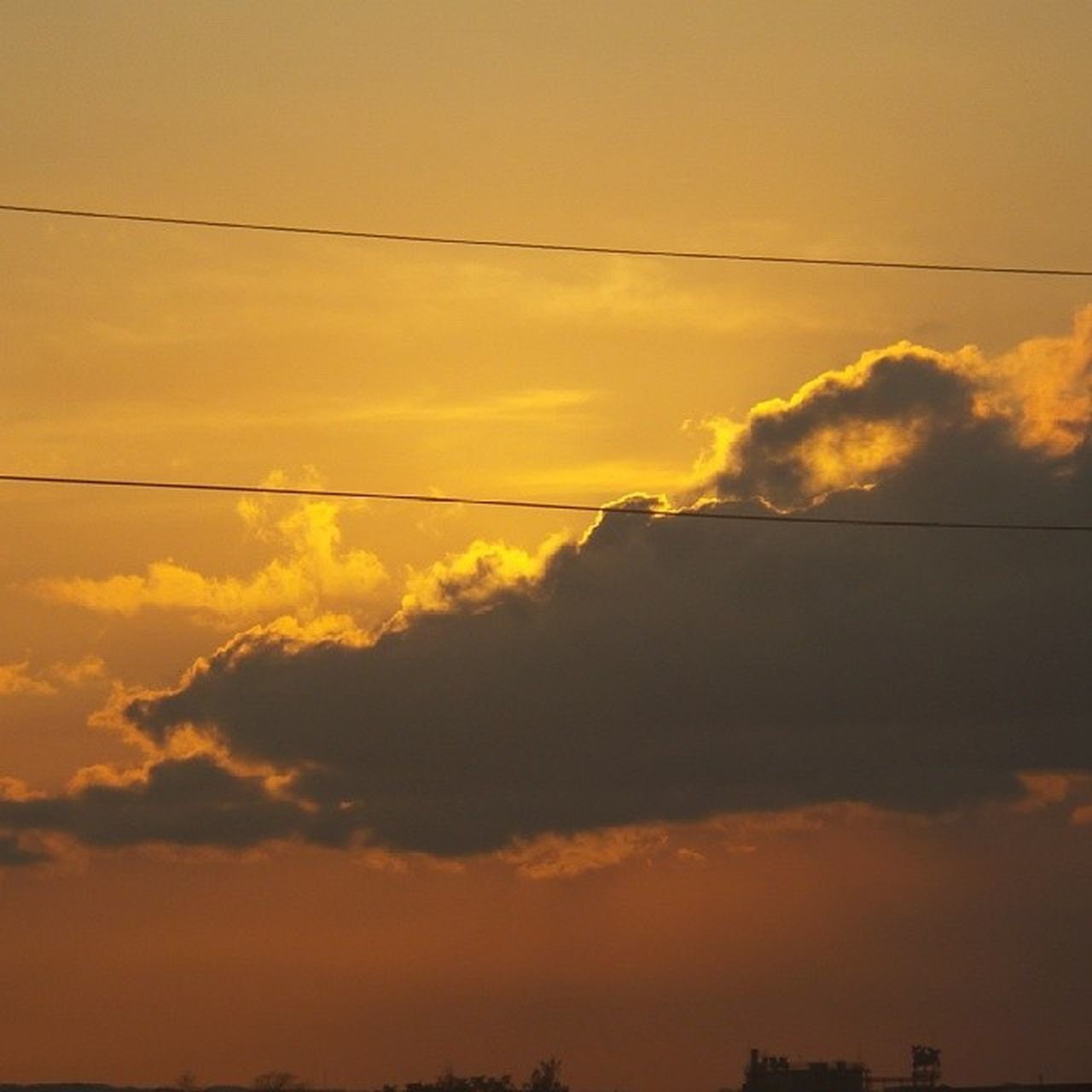 Time check: 1:11am Goodmorning! Sunset AnnoyingElectricWires
