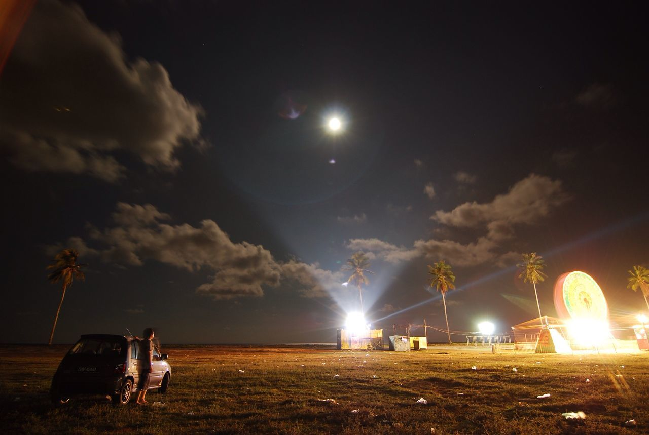 Night Moon One Person Cloud - Sky Sky Scenics Funfair Checking In