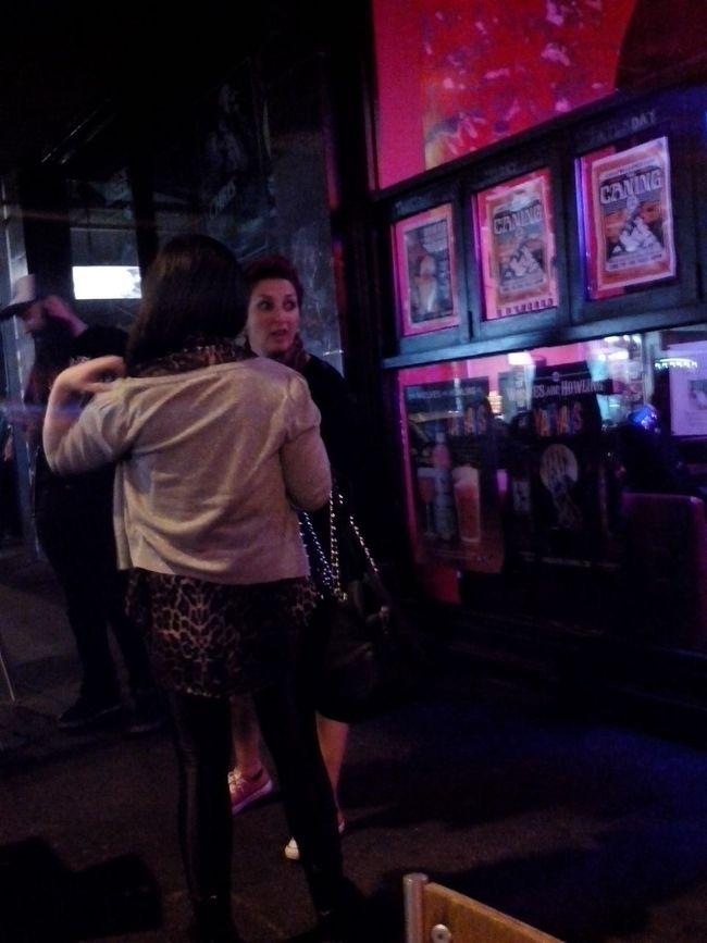 Random People outside Yah Yahs Bar on Smith Street enjoying the Nightlife