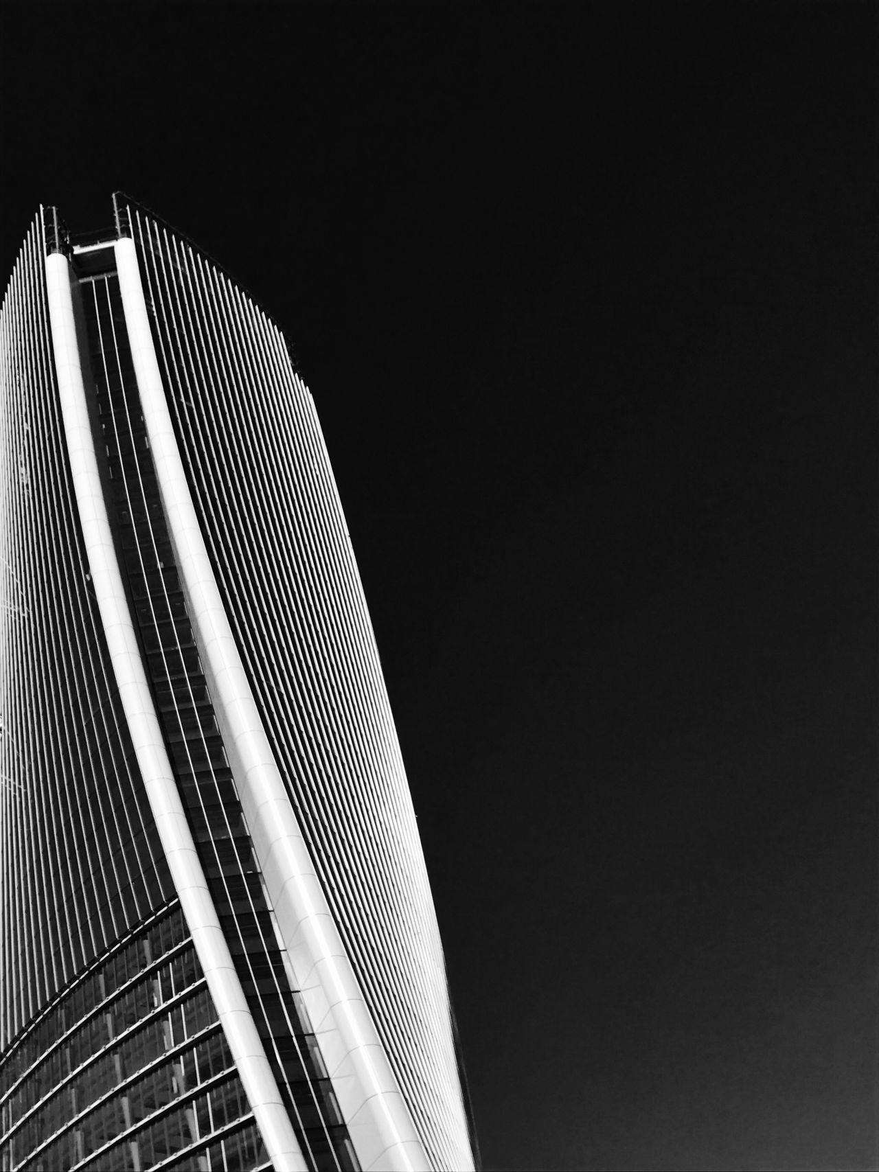 Architecture Built Structure Low Angle View Building Exterior Modern No People City Outdoors Day Architectureporn Architecture_bw Architecturelovers Architecture_collection Bw_collection Urban Geometry Shades Of Grey Streetphoto_bw Minimalism Minimal Blackandwhite Architectural Feature Skyscraper Minimalistic Minimalmood Abstractarchitecture