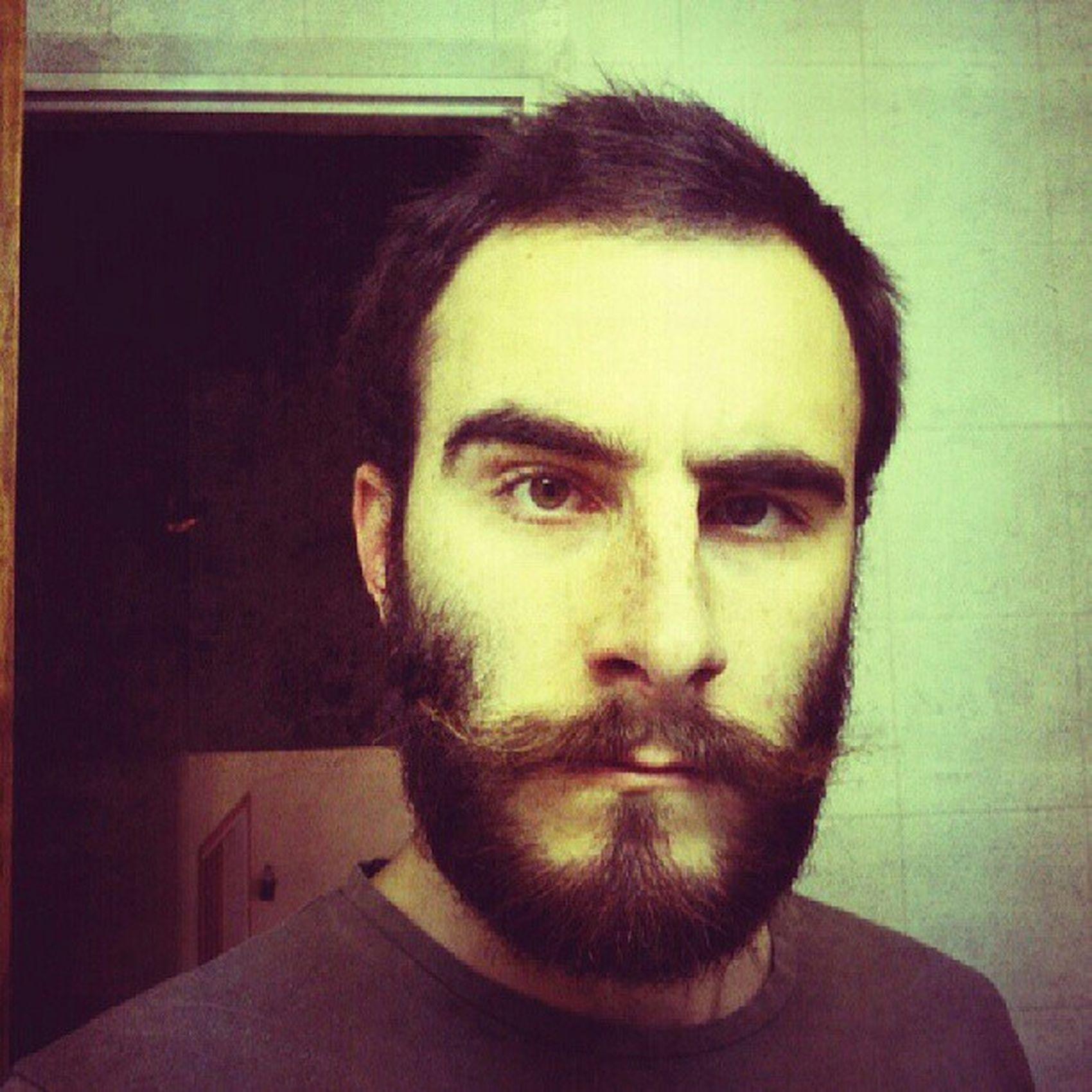 Me Moustache Beard Getreadypeople gnarleybeard gnarleystache myface myself selfie self stayclassy ego yo instalike igdaily portrait face classy crazy